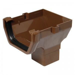 FLOPLAST Guttering 114mm Square Line - Stopend Outlets