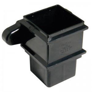 FLOPLAST Guttering 65mm Square - Pipe Sockets