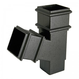 FLOPLAST Guttering 65mm Square Cast Iron Style - Branches