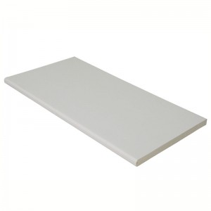 FLOPLAST Multi-Purpose Board 10mm - Double Round Edge - 404mm - Various Woodgrain Foil Colours/White