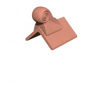 MARLEY TILES Clay 305mm Scroll Finial