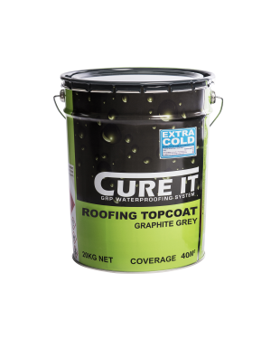 Cure It GRP Roofing Topcoat Graphite 20Kg