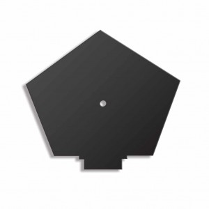 CONT DRY VERGE RIDGE END CAP BLACK RTYPE