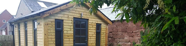 garden room, slate, gutters, boys & boden