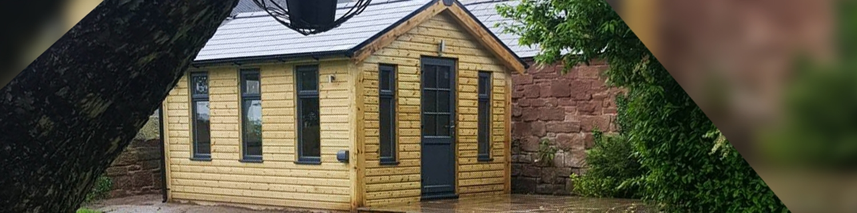 garden room, slate, gutters, boys & boden, roofing supplies